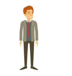 Colorful silhouette of man stand with formal suit vector