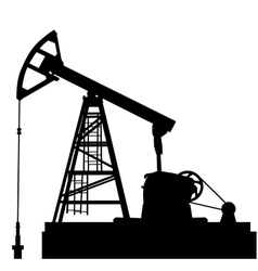 Oil pump jack Oil industry equipment vector image
