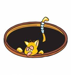 cat hole vector image