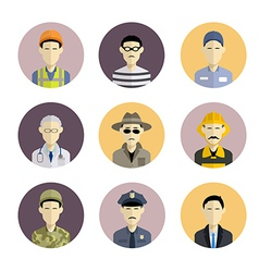 Profession icons vector
