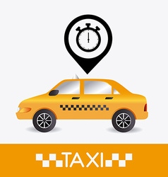 Taxi cab design vector