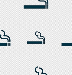 Cigarette smoke icon sign seamless pattern with vector
