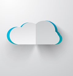 Paper cut cloud vector