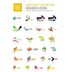 Abstract business icons vector