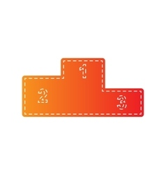 Sofa sign  flat style icon orange vector