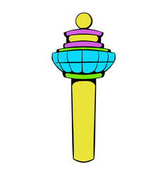 airport control tower icon icon cartoon vector image