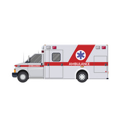 ambulance car emergency vehicle hospital transport vector image vector image