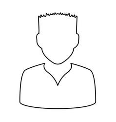 Avatar men anonymous vector
