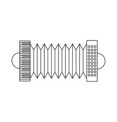 Bandoneon tango instrument icon outline style vector