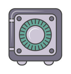 Bank safe isolated pictogram vector
