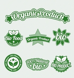 bio labels vector image