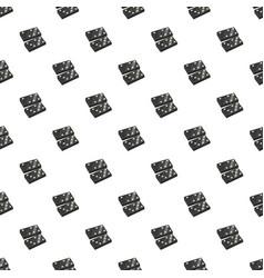 Black dominoes pattern vector