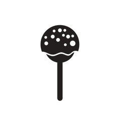 Black icon on white background bonbon candy vector