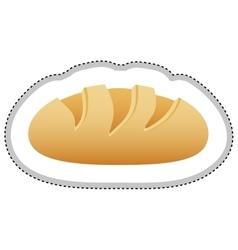 Bread loaf icon image vector