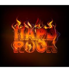 burning hard rock vector image