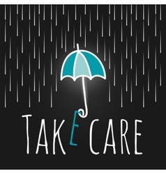 care support open umbrella rain vector image