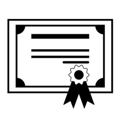 Certificate the black color icon vector