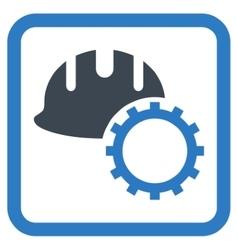 Development hardhat flat icon vector