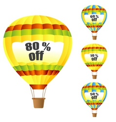 discount parachute vector image vector image