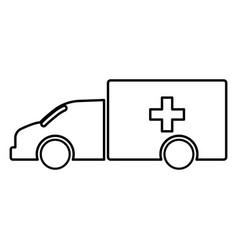 emergency car black color icon vector image vector image