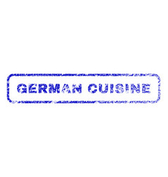 german cuisine rubber stamp vector image vector image