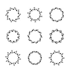 hand drawn circle frames vector image vector image