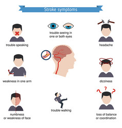 Infographics for stroke infographics for stroke vector