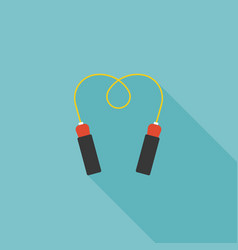 jump rope icon for skipping and exercise vector image vector image