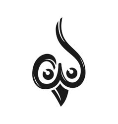 owl head logo vector image