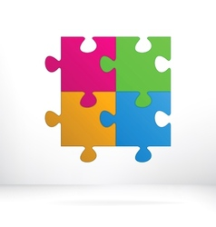 Puzzle abstract concept EPS8 vector image