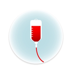 Saline IV drip bag medical icon vector image