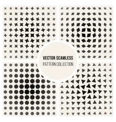 Seamless black and white geometic shape vector