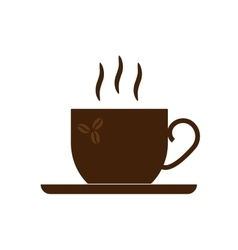 Sign cup of coffee with steam 2908 vector image