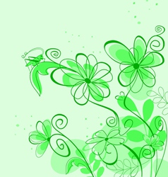 spring abstract floral vector image vector image
