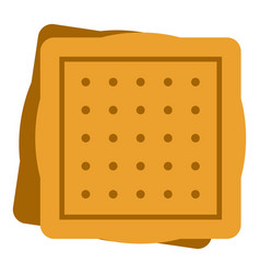 Square cookies icon isolated vector