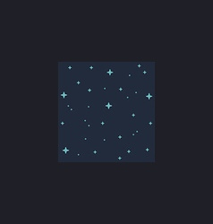 Starry night computer symbol vector