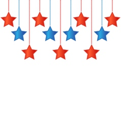 Stars in us colors vector
