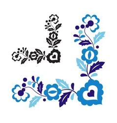 Traditional folk ornament vector image