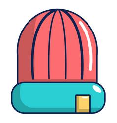 Winter hat cap icon cartoon style vector