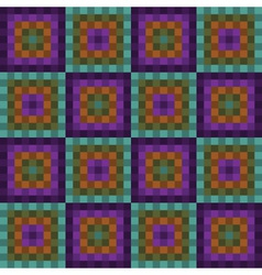 Seamless pattern with purple and green squares vector