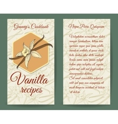 Vanilla brochure design template with aroma vector