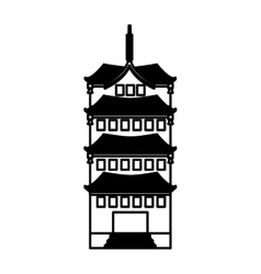 Japanese building traditional icon vector