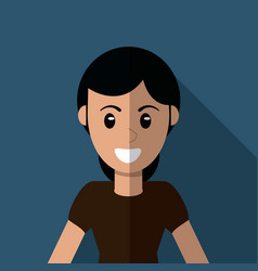 character woman female cartoon vector image