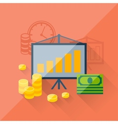 Concept of investments in flat design style vector