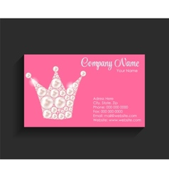 Company Business Card on Black Background vector image
