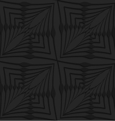 Black 3d abstract wavy squares vector