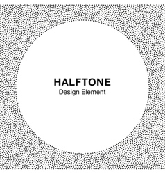 Abstract halftone dots frame circle background vector