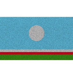 Flags sakha republic on denim texture vector