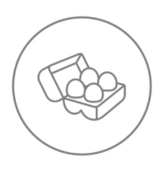Eggs in carton package line icon vector