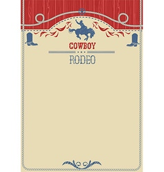 American cowboy rodeo poster western paper vector